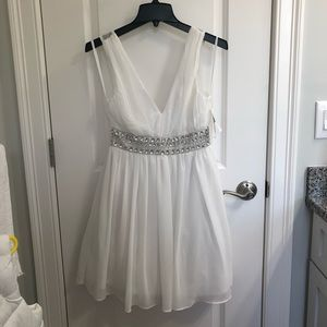 White Formal Dress by City Triangles